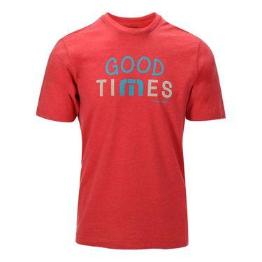 Travis Mathew Good Times Tee - Heather Red