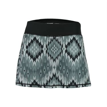 Head Bargello Print Zoom Skirt - Black
