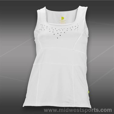 Pure Lime Laser Cut Tank - White