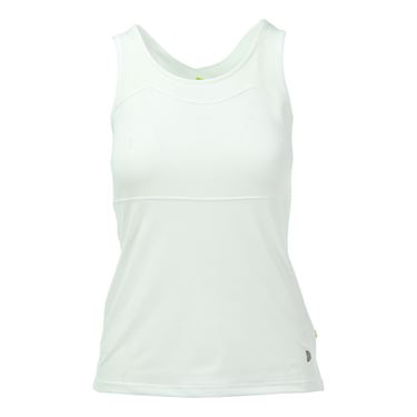 Pure Lime All White Cross Back Tank