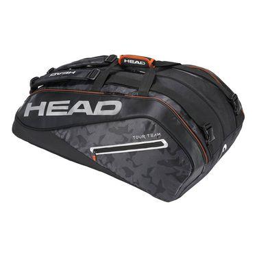 Head Tour Team 12 Pack Monstercombi Tennis Bag - Black/Silver
