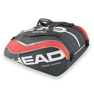 Head Tour Team 2015 Monster Combi 12 Pack Charcoal Tennis Bag