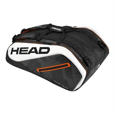 Head Tour Team 12 Pack Monstercombi Tennis Bag - Black/White