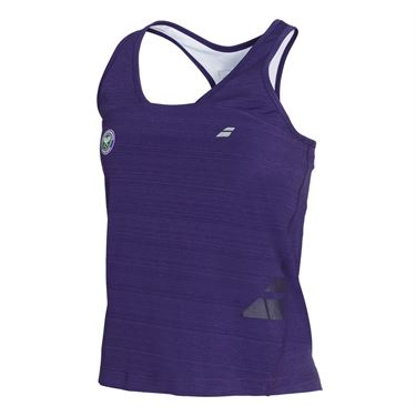 Babolat Girls Wimbledon Performance Racerback Tank - Purple