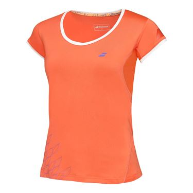 Babolat Girls Perf Cap Sleeve Top - Tomato
