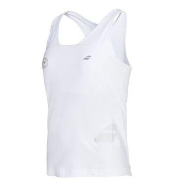 Babolat Girls Wimbledon Performance Racerback Tank - White
