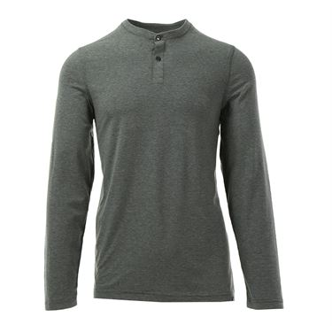 Travis Mathew Glover Long Sleeve Crew - Heather Magnet