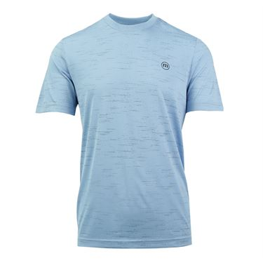 Travis Mathew Gehl Shirt - Heather Dusk Blue