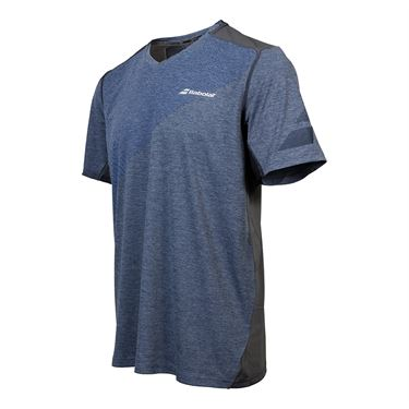 Babolat Performance V Neck Shirt - Heather Blue