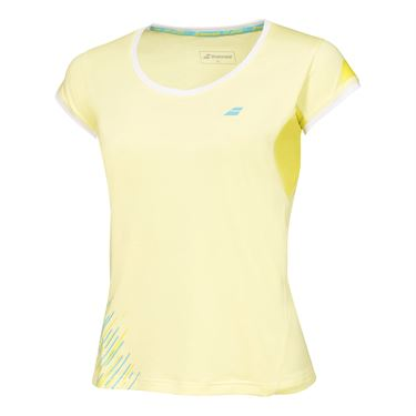 Babolat Perf Cap Sleeve Top- Lime Washed