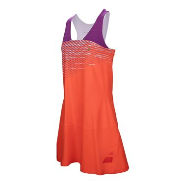Babolat Performance Racerback Dress - Fluo Red