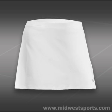 Eliza Audley Basic A-Line Skirt-White