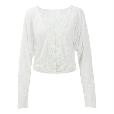 Sofibella Belize Sheer Mesh Crop Cover Up - White
