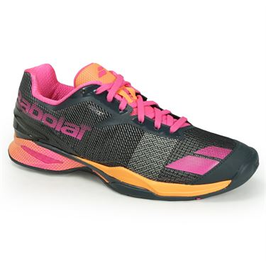 Babolat Jet All Court Womens Tennis Shoe - Grey/Orange/Pink