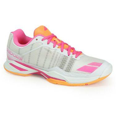 Babolat Jet Team All Court Womens Tennis Shoe - White/Orange/Pink