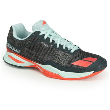 Babolat Jet Team Clay Womens Tennis Shoe - Grey/Blue/Red