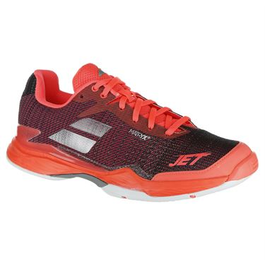 Babolat Jet Mach II Womens Tennis Shoe - Fluo Pink/Silver/Fandango Pink