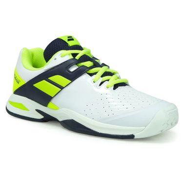 Babolat Junior Propulse All Court Tennis Shoe - White/Black/Yellow