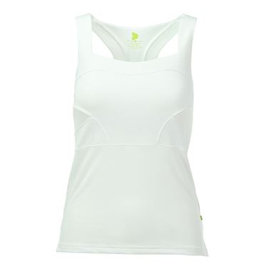 Pure Lime All White Champion Racerback Tank