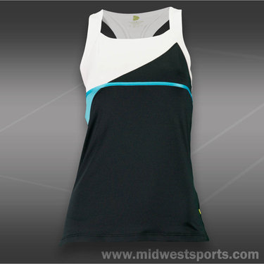 Pure Lime Center Court Tank-Black