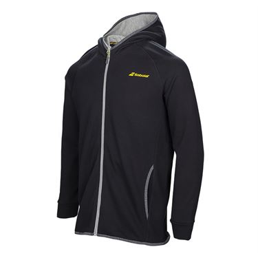 Babolat Boys Core Hooded Sweat Shirt - Black