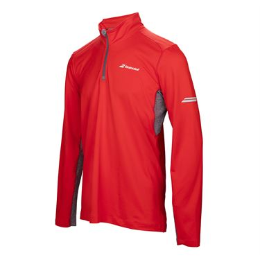 Babolat Core 1/2 Zip - Fluo Red