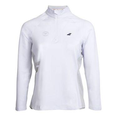 Babolat Wimbledon Core 1/2 Zip - White Grey