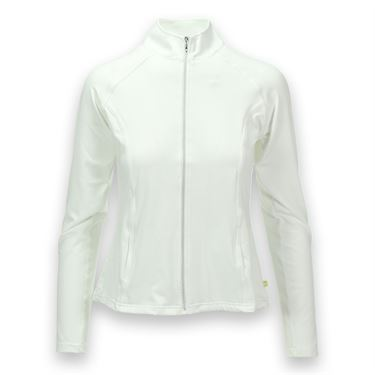 Pure Lime Pleat Back Jacket - White