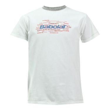 Babolat Boys Core Tee - White