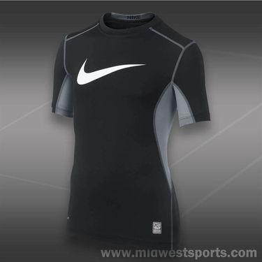 Nike Boys Pro Combat Core Fitted Swoosh Shirt