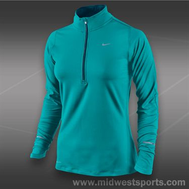 Nike Element 1/2 Zip Top-Turbo Green
