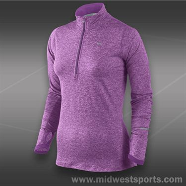 Nike Plus Size 1/2 Zip Top-Violet Shade