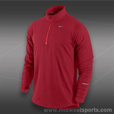 Nike Element 1/2  Zip-Gym Red