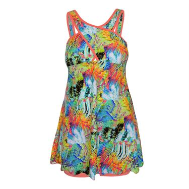 BPassionit Spring Fling Crossover Dress - Print