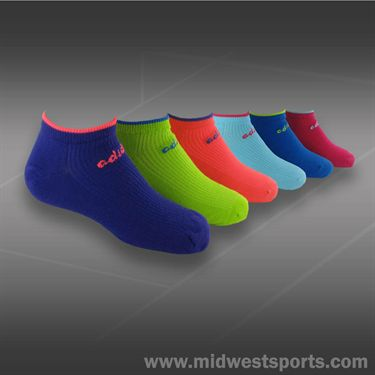 adidas Girls Superlite 6 Pack No Show Girls Tennis Sock