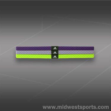 adidas Womens Shimmy Hairband-Tribe Purple/Glow Purple/Slime/Urban Sky