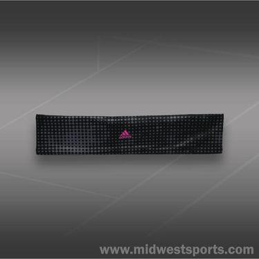 adidas Womens Studio Headband-Black/Medium Lead