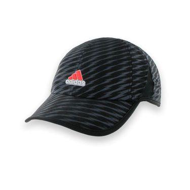 adidas Mens adizero Shockwave Hat-Black/Bold Onix/Solar Red