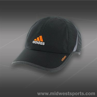 adidas Mens adizero II Hat- Black/Heather Grey/Solar Gold