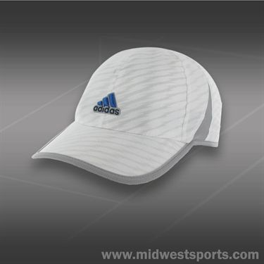 adidas Mens adizero Shockwave Hat-White/Clear Onix/Blue Beauty
