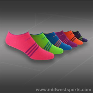 adidas Womens Superlite 6 Pack No Show Womens Tennis Sock