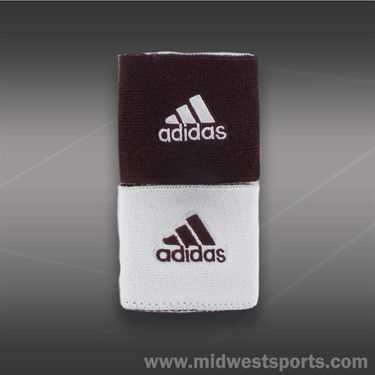 adidas Interval Reversible Wristband-Maroon/White
