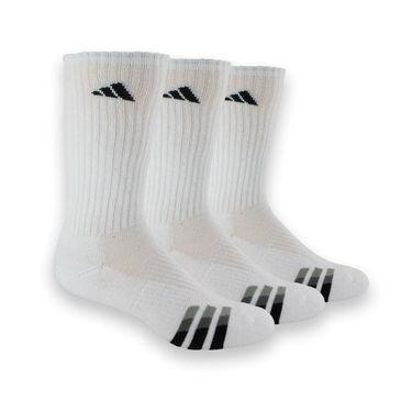 adidas Cushion 3 Pack Crew Sock -White/Black