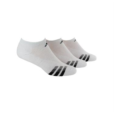 adidas Cushioned No Show Sock (3 pack) - White/Black