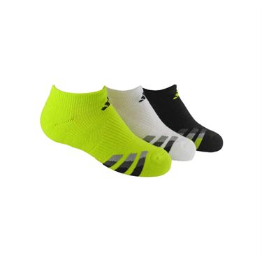 adidas Youth Cushion No Show Sock (3 Pack) - Semi Solar Yellow