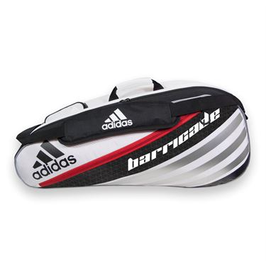 adidas Barricade IV Tour 6 Pack Tennis Bag - White/Scarlet