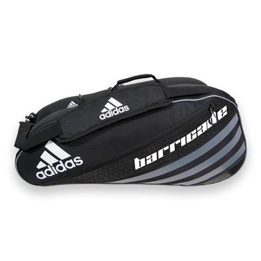 adidas Barricade IV Tour 6 Pack Tennis Bag - Black/Dark Silver