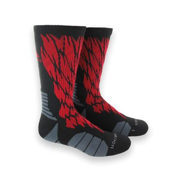 adidas Traxion Impact Shockweb Crew Sock - Black/Solar Red