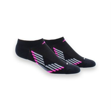adidas ClimaCool III No Show 2 Pack Sock - Black/Shock Pink