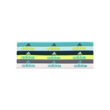 adidas Fighter Hairbands 6 Pack - Shock Mint/Ice Green